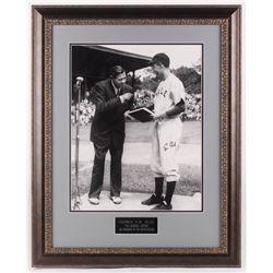 George H. W. Bush Signed Yale Bulldogs 24.25x30.25 Custom Framed Photo Display (JSA LOA)