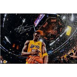 "Kobe Bryant Signed Los Angeles Lakers ""5x Champ"" 16x24 Limited Edition Photo (Panini COA)"
