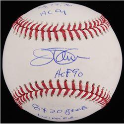 """Jim Palmer Signed OML Baseball Inscribed """"73, 75, 76 AL CY"""" """"HOF 90""""  """"8x 20 Game Winner"""" (JSA COA)"""