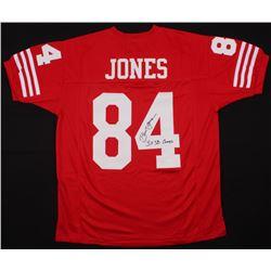 "Brent Jones Signed Jersey Inscribed ""3x SB Champs"" (JSA COA)"