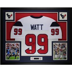JJ Watt Signed 35x43 Custom Framed Jersey (JSA COA)