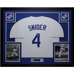 Duke Snider Signed 35x43 Custom Framed Jersey (PSA COA)