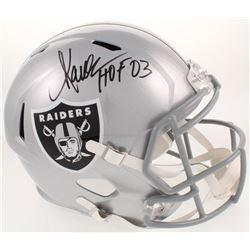 """Marcus Allen Signed Oakland Raiders Full-Size Speed Helmet Inscribed """"HOF 03"""" (Radtke COA  Allen Hol"""