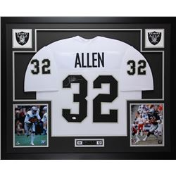 Marcus Allen Signed 35x43 Custom Framed Jersey (JSA COA)