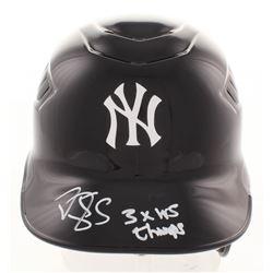 "Darryl Strawberry Signed New York Yankees Full-Size Batting Helmet Inscribed ""3x WS Champs"" (JSA COA"
