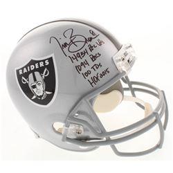 Tim Brown Signed Oakland Raiders Full-Size Helmet with (4) Career Stat Inscriptions (Radtke COA)