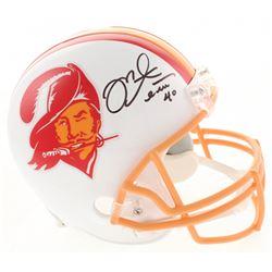 Mike Alstott Signed Tampa Bay Buccaneers Full-Size Throwback Helmet (Radtke COA)