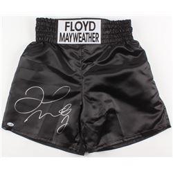 Floyd Mayweather Jr. Signed Boxing Trunks (Beckett COA)