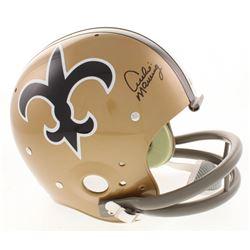 Archie Manning Signed New Orleans Saints Throwback Full-Size Suspension Helmet (Radtke COA)