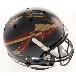 Jameis Winston, Charlie Ward  Chris Weinke Signed Florida State Seminoles Full-Size Helmet with (3)