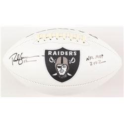 "Rich Gannon Signed Oakland Raiders Logo Football Inscribed ""NFL MVP 2002"" (Radtke COA)"