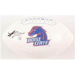 Leighton Vander Esch Signed Boise State Broncos Logo Football (Radtke COA)