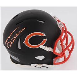 Mike Ditka Signed Chicago Bears Matte Black Speed Mini Helmet (Schwartz COA)