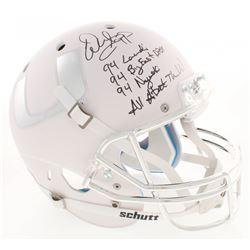 Warren Sapp Signed Miami Hurricanes Full-Size Matte White Helmet with (4) Inscriptions (Beckett COA)