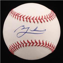 Ben Zobrist Signed OML Baseball (PSA Hologram)