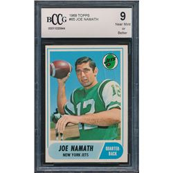 1968 Topps #65 Joe Namath (BCCG 9)