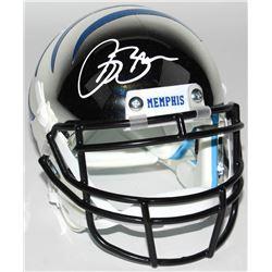 Isaac Bruce Signed Memphis Tigers Chrome Mini Helmet (Radtke COA)
