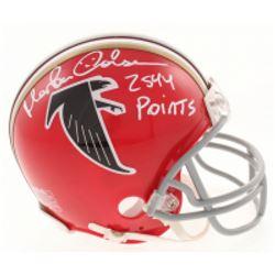 Morten Andersen Signed Atlanta Falcons Throwback Mini Helmet Inscribed  2544 Points  (Radtke Hologra