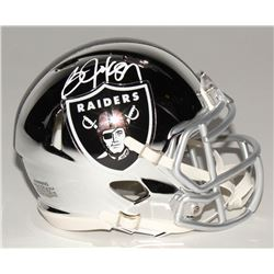 Bo Jackson Signed Oakland Raiders Chrome Speed Mini Helmet (Radtke COA)