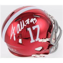 Jonathan Allen Signed Alabama Crimson Tide Chrome Speed Mini Helmet (Radtke COA)