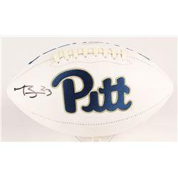 Tyler Boyd Signed Pittsburgh Panthers Logo Football (Radtke COA)