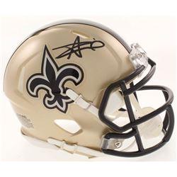 Alvin Kamara Signed New Orleans Saints Speed Mini Helmet (Radtke COA)