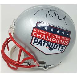Tom Brady Signed New England Patriots Limited Edition  6-Time Super Bowl Champions  Full-Size Authen
