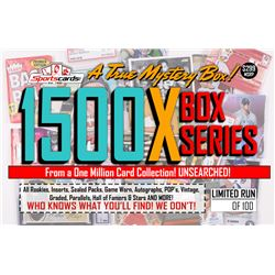 """MYSTERY 1500X SERIES"" A True Sports Card Mystery Box!"