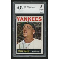 1964 Topps #225 Roger Maris (BCCG 8)