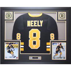 Cam Neely Signed 35x43 Custom Framed Jersey (JSA COA)