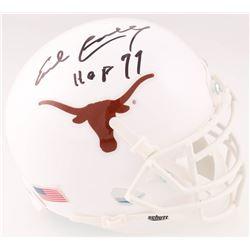 "Earl Campbell Signed Texas Longhorns Mini Helmet Inscribed ""HOF 77"" (JSA COA)"