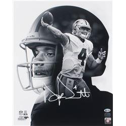 Dak Prescott Signed Dallas Cowboys 16x20 Photo (Beckett COA  Prescott Hologram)