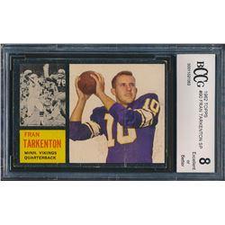 1962 Topps #90 Fran Tarkenton RC (BCCG 8)