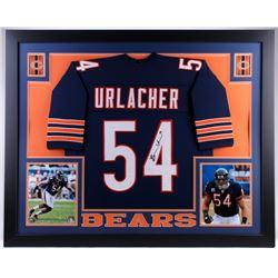 Brian Urlacher Signed 35x43 Custom Framed Jersey (JSA COA)