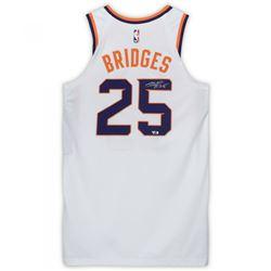 Mikal Bridges Signed Phoenix Suns Game-Used Jersey (Fanatics Hologram)