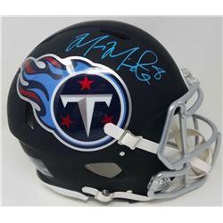 Marcus Mariota Signed Tennessee Titans Full-Size Matte Black Authentic On-Field Speed Helmet (Fanati