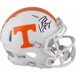 Peyton Manning Signed Tennessee Volunteers Mini Speed Helmet (Fanatics Hologram)