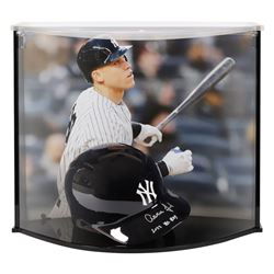 """Aaron Judge Signed New York Yankees Full-Size Batting Helmet Inscribed """"2017 AL ROY"""" with High Quali"""