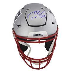 Tom Brady Signed New England Patriots Full-Size Authentic On-Field SpeedFlex Helmet (TriStar Hologra