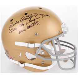 """Rudy Ruettiger Signed Notre Dame Fighting Irish Full-Size Helmet Inscribed """"Play Like A Champion Tod"""