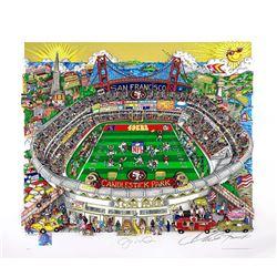 Joe Montana Signed Charles Fazzino LE San Francisco 49ers 18.5x21.5 3D Pop Art Print (JSA LOA)