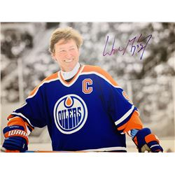 Wayne Gretzky Signed Edmonton Oilers 30x40 Photo On Canvas (JSA LOA)