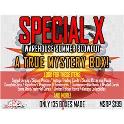 """SPECIAL X BLOWOUT BOX"" – A TRUE SPORTS MEMORABILIA MYSTERY BOX!"
