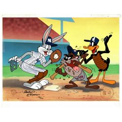 "Charles McKimson Signed AP Warner Bros. ""Yer Out"" 10.5x13 Animation Cel (Toon Art, Inc. COA)"