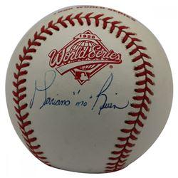 """Mariano Rivera Signed Official 1996 World Series Baseball Inscribed """"Mo"""" (JSA LOA)"""
