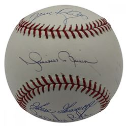 """New York Yankees LE OML Baseball Signed by (4) """"Closers"""" with Mariano Rivera, Goose Gossage, Dave Ri"""