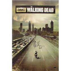 "Jeffrey Dean Morgan Signed ""The Walking Dead"" 24x36 Poster Inscribed ""Negan"" (Radtke COA)"