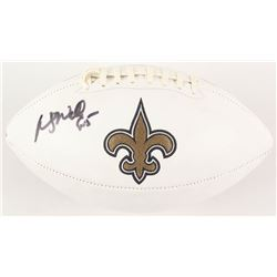 Wesley Walls Signed New Orleans Saints Logo Football (Radtke COA)