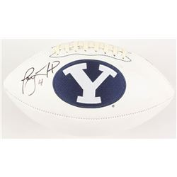 Taysom Hill Signed BYU Cougars Logo Football (Radtke COA)