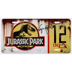 "Wayne Knight Signed ""Jurassic Park"" #12 Jeep License Plate - Movie Prop Replica (PA COA)"